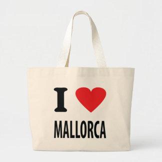 I love mallorca icon large tote bag