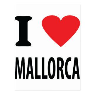 I love mallorca icon postcard
