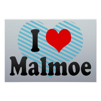 I Love Malmoe, Sweden Poster