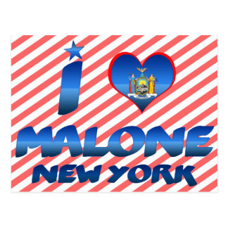 I love Malone, New York Post Cards