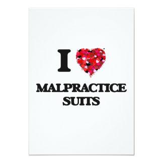 I Love Malpractice Suits 5x7 Paper Invitation Card