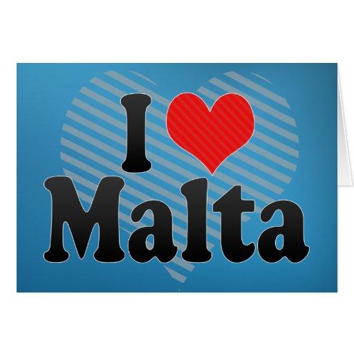 I Love Malta Card