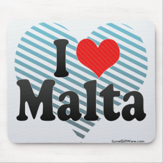 I Love Malta Mouse Pad