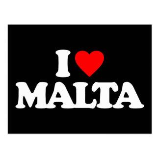 I LOVE MALTA POSTCARD