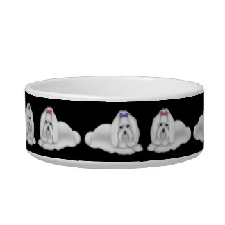 I Love Maltese Dogs Pet Bowl