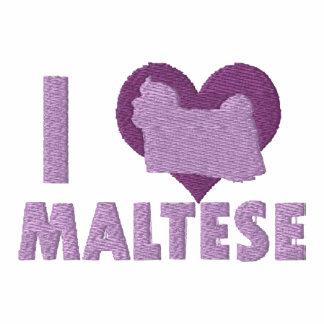 I Love Maltese Embroidered Shirt (Hoodie)
