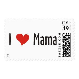 I Love Mama Shirt Postage Stamp