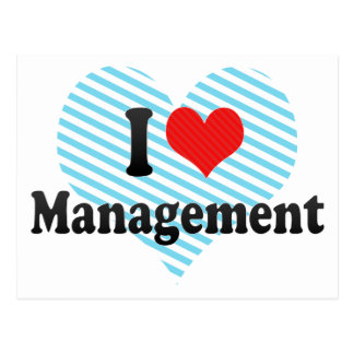 I Love Management Postcard
