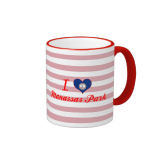 I Love Manassas Park, Virginia Coffee Mugs