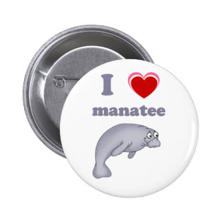 I love manatee pinback buttons