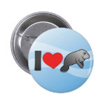 I Love Manatees 2 Inch Round Button