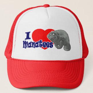 I Love Manatees Ball Cap