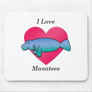 I love manatees mouse pads