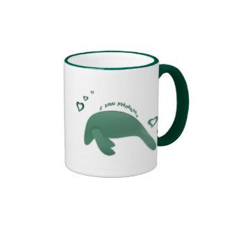 I Love Manatees Mug