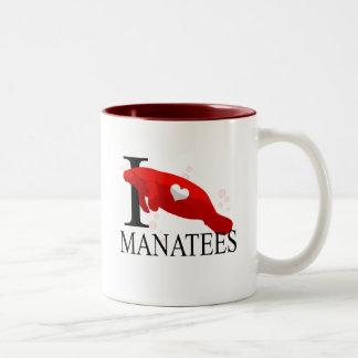 I Love Manatees Mugs