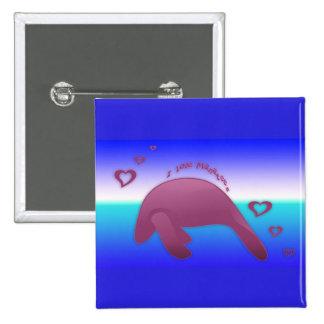 I love Manatees Ocean Pin
