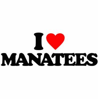 I LOVE MANATEES CUT OUTS