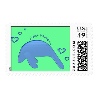 I Love Manatees Stamps