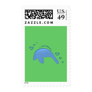 I Love Manatees Postage Stamps
