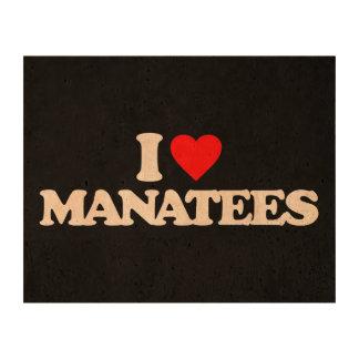 I LOVE MANATEES CORK PAPER