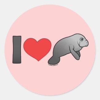 I Love Manatees Stickers