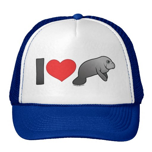 I Love Manatees Trucker Hat