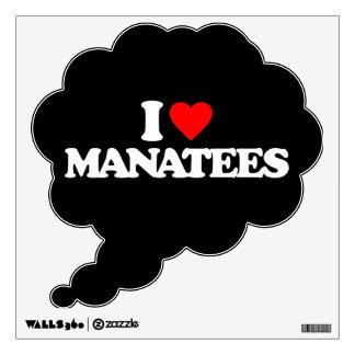 I LOVE MANATEES ROOM DECALS