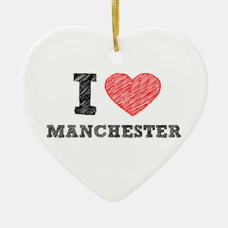 I-love-Manchester Ceramic Ornament