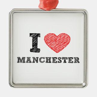 I-love-Manchester Metal Ornament