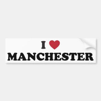 I Love Manchester New Hampshire Car Bumper Sticker