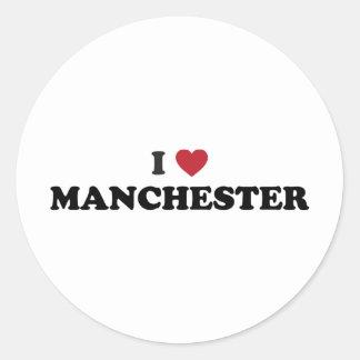 I Love Manchester New Hampshire Classic Round Sticker