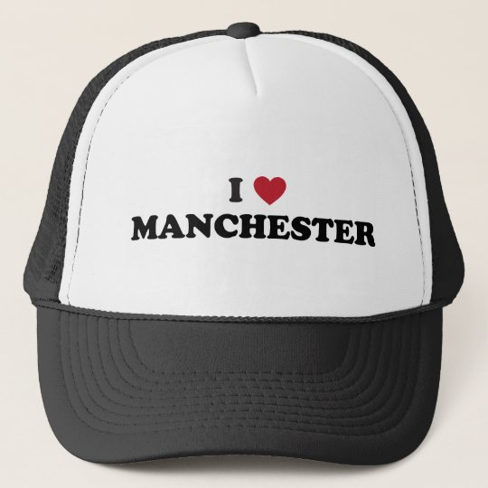 I Love Manchester New Hampshire Trucker Hat