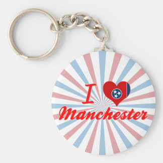 I Love Manchester, Tennessee Key Chains