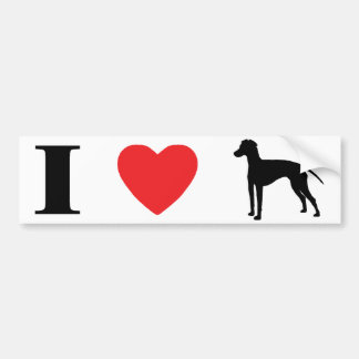 I Love Manchester Terriers Bumper Sticker