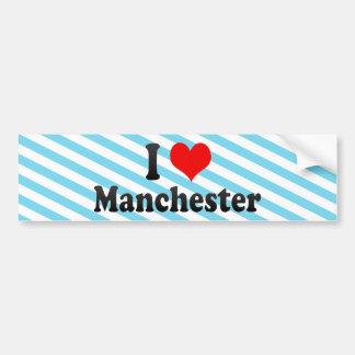 I Love Manchester, United Kingdom Car Bumper Sticker