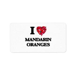 I Love Mandarin Oranges Address Label