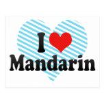I Love Mandarin Postcard