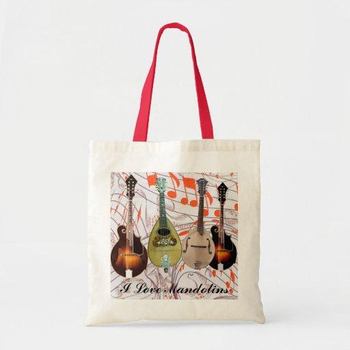 I Love Mandolins Instrument Lineup Budget Tote Bag