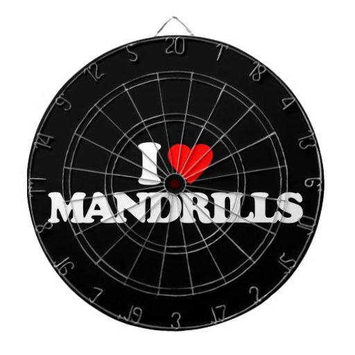 I LOVE MANDRILLS DARTBOARD