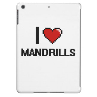 I love Mandrills Digital Design iPad Air Cases