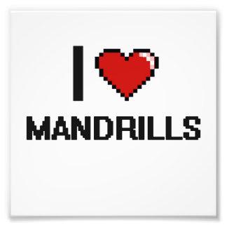 I love Mandrills Digital Design Photo Print
