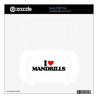 I LOVE MANDRILLS SONY PSP GO SKINS