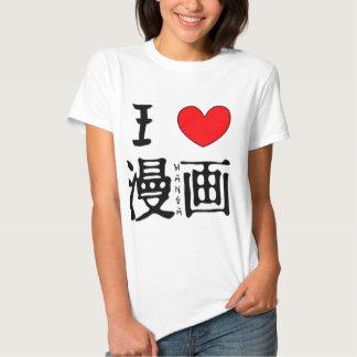I Love Manga Tee Shirt