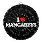 I LOVE MANGABEYS DARTBOARD