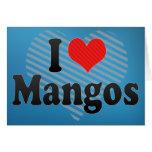 I Love Mangos Greeting Card