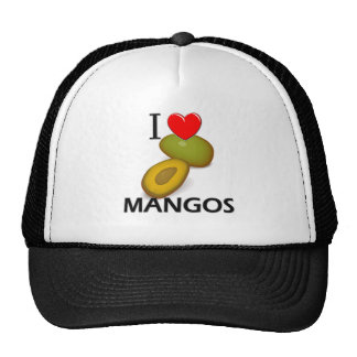 I Love Mangos Hats