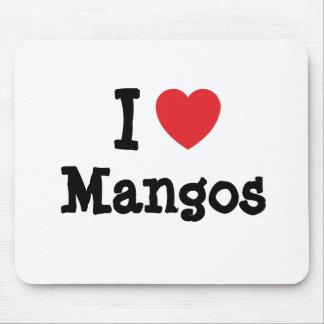 I love Mangos heart T-Shirt Mouse Pad