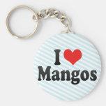 I Love Mangos Keychains