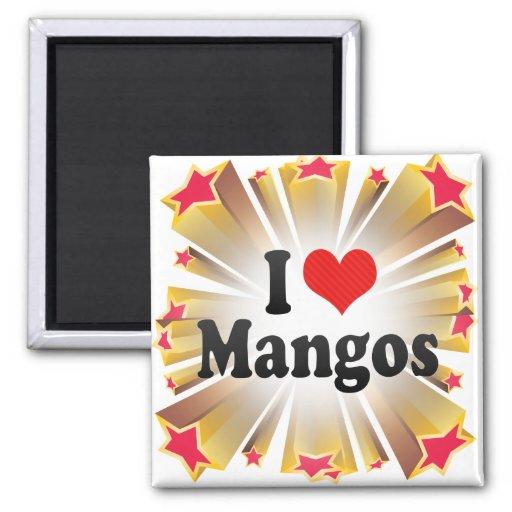 I Love Mangos Magnet