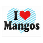 I Love Mangos Postcard